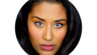 getlinkyoutube.com-Makeup with DESIO Icy Blue Lenses