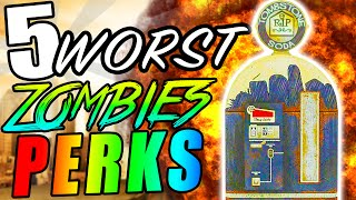 "Top 5 WORST PERKS in Zombies! - Call of Duty Zombies Black Ops, BO2 & WAW ""Zombies Worst Perks"""