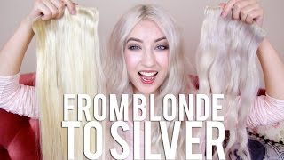 getlinkyoutube.com-From Blonde to Silver (TUTORIAL) + HairKandy Unboxing + GIVEAWAY