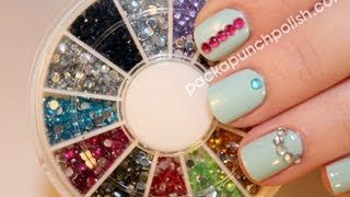 getlinkyoutube.com-Born Pretty Store Rhinestone Wheel Review and 3 Super Mini Tutorials