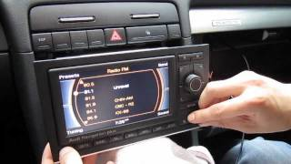getlinkyoutube.com-Audi A3, A4, A5, A6 RNS-E iPod iPhone AUX adapter