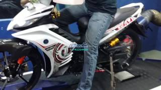 getlinkyoutube.com-Yamaha LC135 (5 Speed) Tune to 200Km/h On Dyno - Motodynamics Technology Malaysia