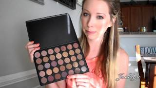 getlinkyoutube.com-Morphe Brushes 35T Palette Review & SWATCHES