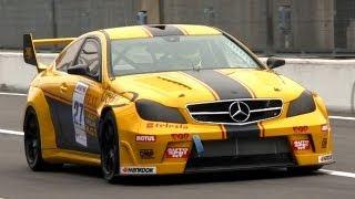 getlinkyoutube.com-V8 Race Cars Sound Battle: 300C SRT8 vs. XFR vs. C63 AMG vs. CTS-V