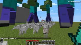 getlinkyoutube.com-Minecraft - Giant  Zombies VS Wolves