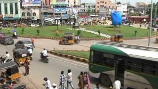 getlinkyoutube.com-KARIMNAGAR CITY VISUALS ROADS TRAFFIC BUILDINGS