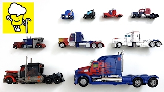 Optimus Prime transformer Movie toy トランスフォーマー 變形金剛 Truck   stop motion for kids