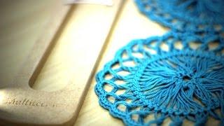 getlinkyoutube.com-Crochê de grampo - motivo circular