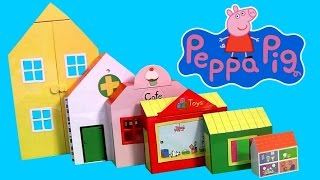 getlinkyoutube.com-Peppa Pig World of Playsets 6 Sets in 1 Playset Nickelodeon - Maletín La Casa de juguetes 6-in-1