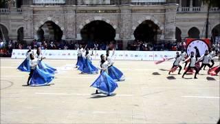 getlinkyoutube.com-Sekolah Tun Fatimah Colour Guard - FT Day Drumline & Colour Guard Competition