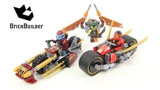 getlinkyoutube.com-Lego Ninjago 70600 Ninja Bike Chase - Lego Speed build