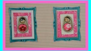 getlinkyoutube.com-Como fazer quadro para decorar a casinha da boneca Barbie