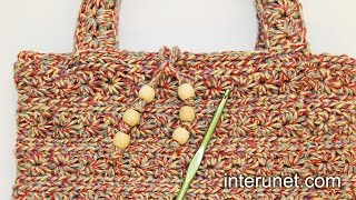 getlinkyoutube.com-How to crochet a handbag - women's purse crochet pattern