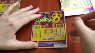 getlinkyoutube.com-New $2 Amazing 8's - Michigan Lottery - 2/5/17