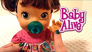 getlinkyoutube.com-How-To Make a Baby Alive My Baby All Gone Doll a Pacifier with a Christmas Ring Pop