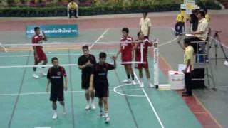 getlinkyoutube.com-Takraw Thailand League 2009 Chonburi-Nakhon Pathom (Mat.1)