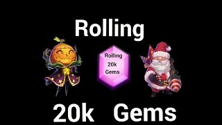 getlinkyoutube.com-Rolling 20k Gems for Treantaur , Warlock and Santa Boom on Joshes Account