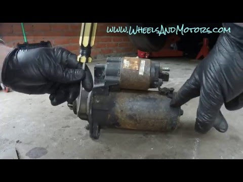 How to test, fix or replace starter motor VW Golf Mk4