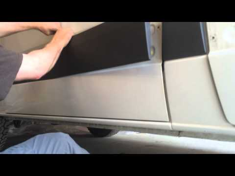 How to remove the external trim pieces from a Mercedes Sprinter van