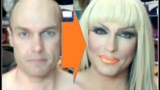 getlinkyoutube.com-Male-to-Female Transformation #2: Drag Make-Up Tutorial