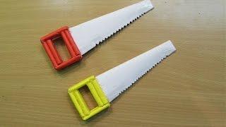getlinkyoutube.com-How to Make a Paper Hand Saw( Wood Cutting Tools)- Easy Tutorials