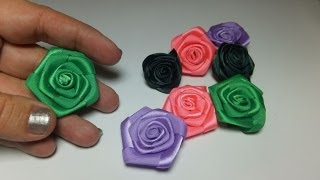 getlinkyoutube.com-Flores de cinta de raso.
