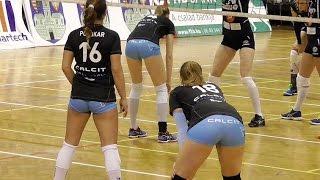 getlinkyoutube.com-Volleyball Girls Showing Their Best Form