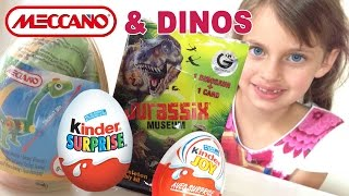 getlinkyoutube.com-[OEUF & JOUET] Oeuf Meccano , Surprise Dinosaure , Kinder Joy - Kinder Surprise Eggs & Toys