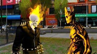 getlinkyoutube.com-Ghost Rider vs Guardians of The Galaxy Groot