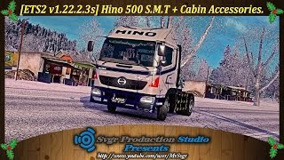 getlinkyoutube.com-[ETS2 v1.22.2.3s] Hino 500 S.M.T + Cabin Accessories.