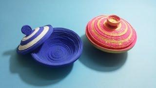 getlinkyoutube.com-How to make coiled paper bowl