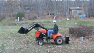 getlinkyoutube.com-Ariens S16H Tractor with loader