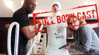 EXTREME 100 LAYER CHALLENGE: DIY FULL BODY CAST (PRANKING JUSTDUSTIN) | THE RENTS