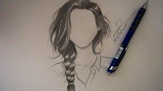 getlinkyoutube.com-رسم الشعر بالرصاص بتسريحة الظفيرة