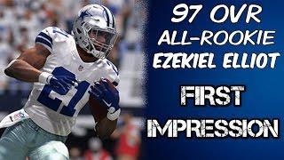 97 OVR All-Rookie Ezekiel Elliott | First Impressions | Madden 17 Ultimate Team Gameplay | MUT 17