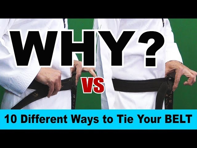 Why Different Ways to Tie a Belt in Martial Arts | 10 Different Ways | How to Tie Your Belt | TW