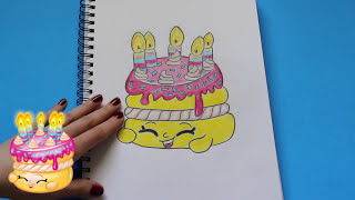"""getlinkyoutube.com-How to Draw Shopkins Season 1 """"Wishes"""" Step By Step Easy   Toy Caboodle"""