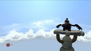 getlinkyoutube.com-How to Train Your Dragon 2: The Video Game - Toothless   Open World Free Roam Gameplay [HD]