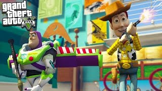 GTA 5 TOY STORY WOODY & BUZZ TAKE OVER THE CITY! (GTA 5 Mods)