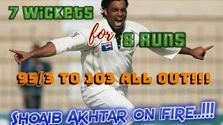 7 wickets for 8 runs - 95/3 to 103 ALL OUT!!! Shoaib Akhtar's Lethal Spell DESTROYS New Zealand!!