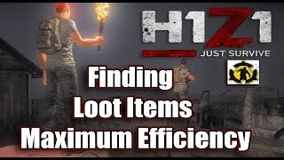 getlinkyoutube.com-H1Z1 Just Survive Gameplay  -  Finding Loot Items for Maximum Efficiency
