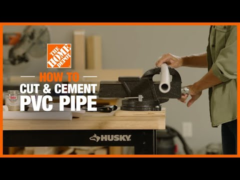 A video reviews the different methods for cutting PVC pipe.