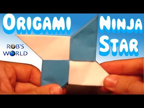 How to Make an Origami Ninja Star (Shuriken) - Double-Sided