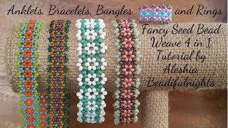 getlinkyoutube.com-Fancy Seed Bead Weave 4 in 1 Tutorial