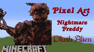 getlinkyoutube.com-Minecraft Pixel Art SpeedBuild | Nightmare Freddy FNAF 4