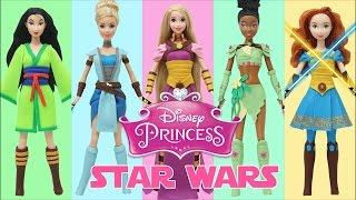 "getlinkyoutube.com-Play Doh ""Disney Princess"" Rapunzel Tiana Cinderella Mulan Merida ""Star Wars"" Jedi Costumes"