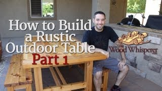getlinkyoutube.com-208 - How to Build a Rustic Outdoor Table (Part 1 of 2)