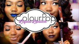 getlinkyoutube.com-NEW! ColourPop Liquid Lipsticks Swatches + Review   WOC Friendly