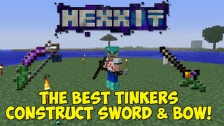 getlinkyoutube.com-Hexxit: The Best Tinkers Construct Sword & Bow & How To Make Them!