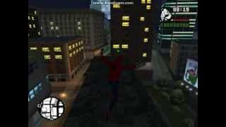 getlinkyoutube.com-Gta SA Spiderman Mod Pack Web sling, Web zip, Wall crawl) + Download link